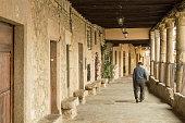 istock Arcade (public space) in the village of Cuacos de Yuste, western Spain 814010178