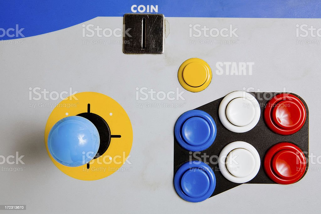 Arcade Joystick And Buttons Stock Photo - Download Image Now - iStock