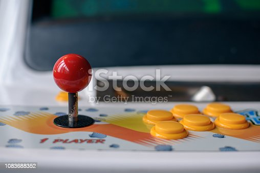 Arcade machine joystick and button