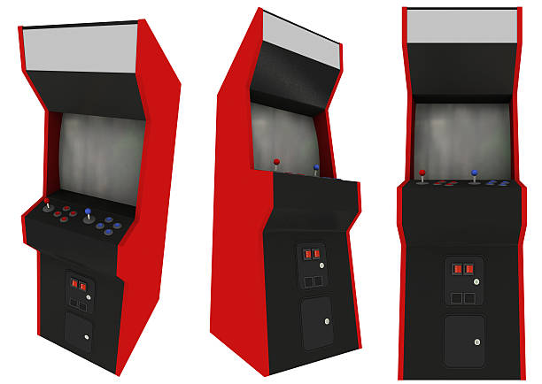 Arcade Machines Three View (Isolated) stock photo