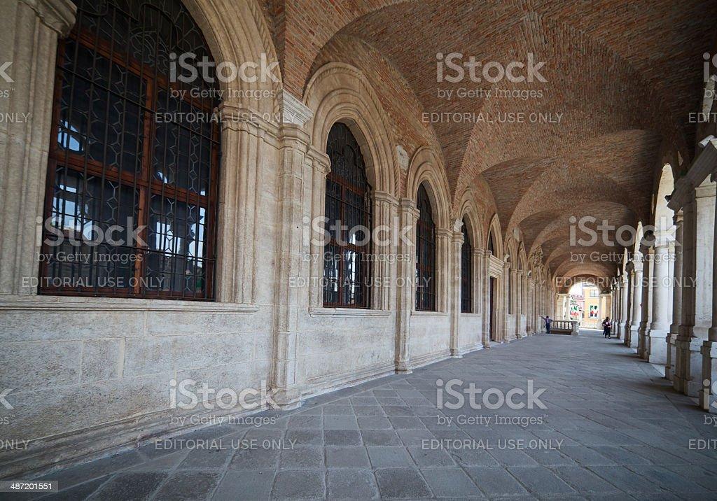 Arcade of Basilica Palladiana ('Palazzo della Ragione'). Vicenza-Italy. stock photo