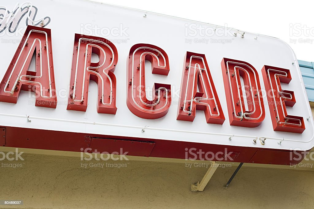 Arcade sign royalty-free stock photo