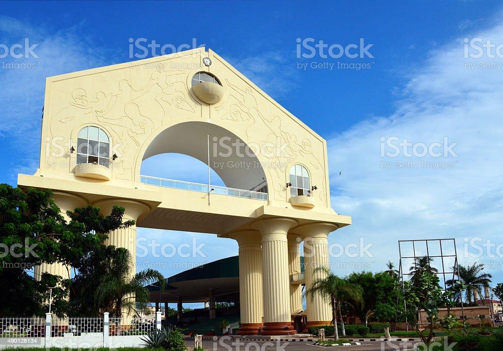 Arch 22, Banjul, Gambia stock photo