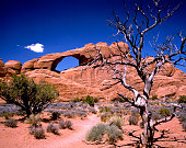 Turret Arch seen through the North Window at Arches natn'l Park Utah.