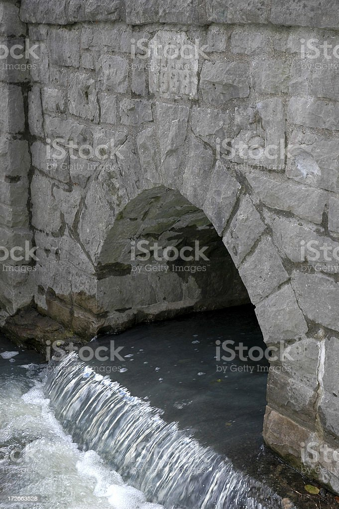 Arch and Water stock photo