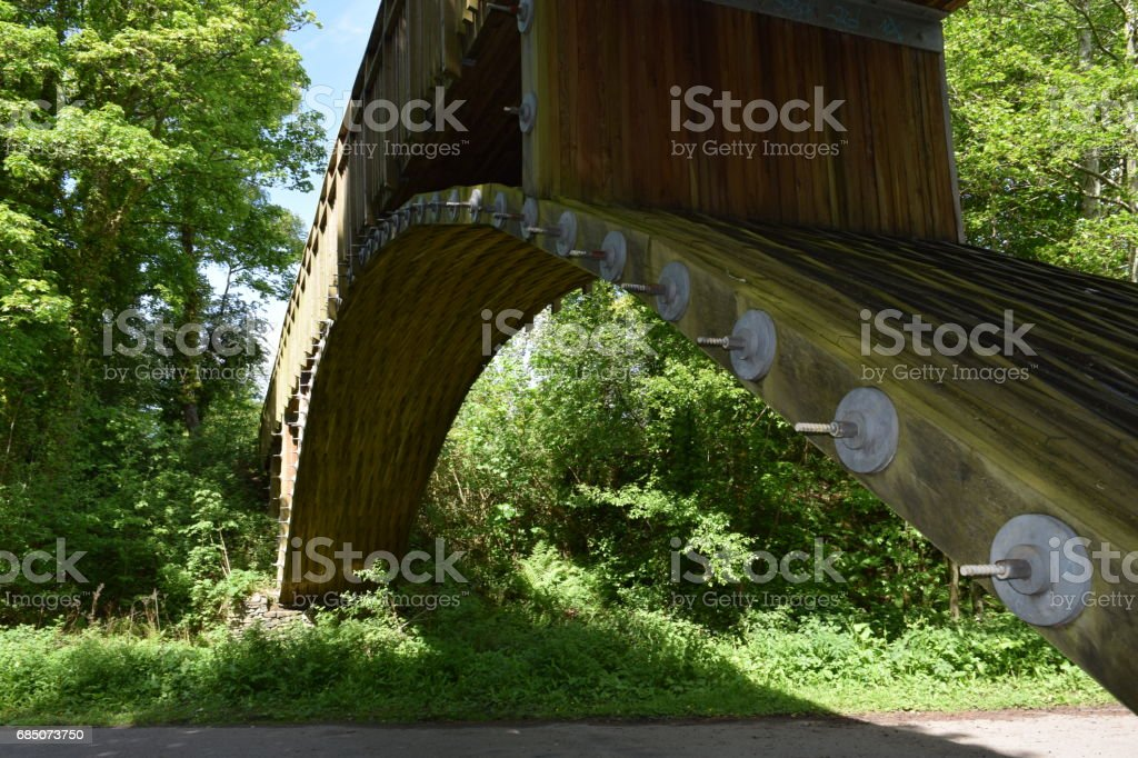 Arch bridge from the side royalty-free stock photo