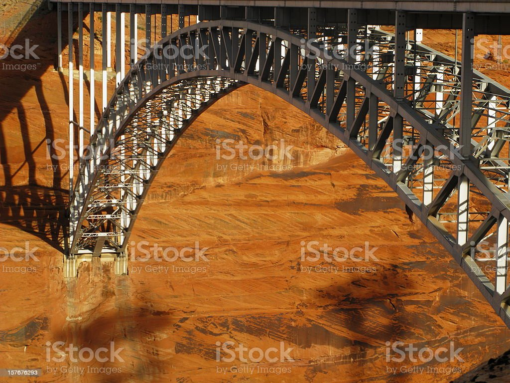 Arch Bridge Glen Canyon Dam stock photo