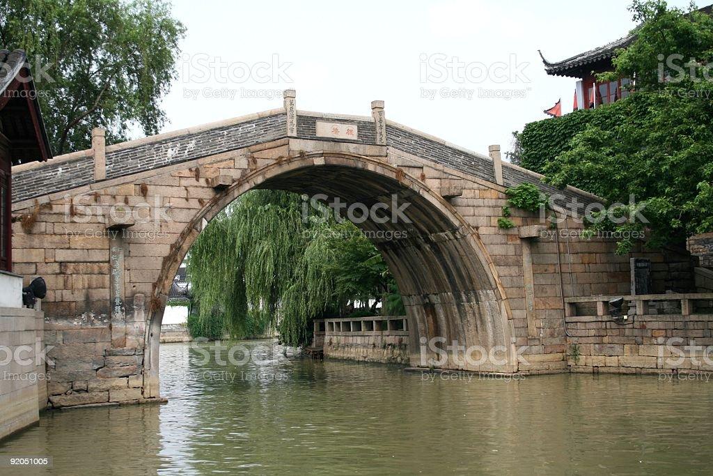 Arch Bridge in Suzhou stock photo