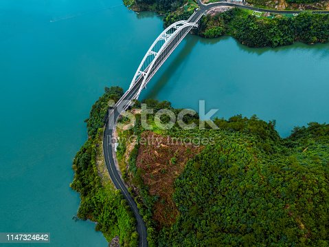 Arch bridge in Lin'an district of Zhejiang province, China
