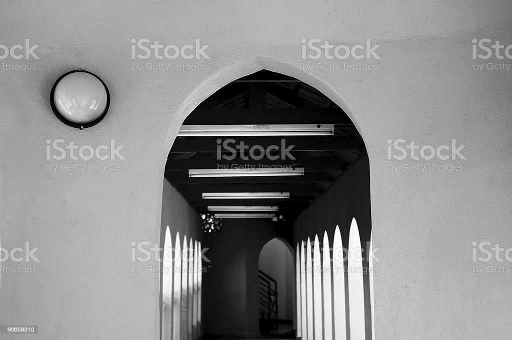 Arch - b&w stock photo
