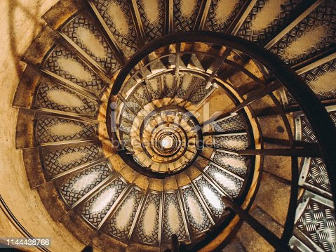 Staircase inside of Arc de Triomphe in Paris