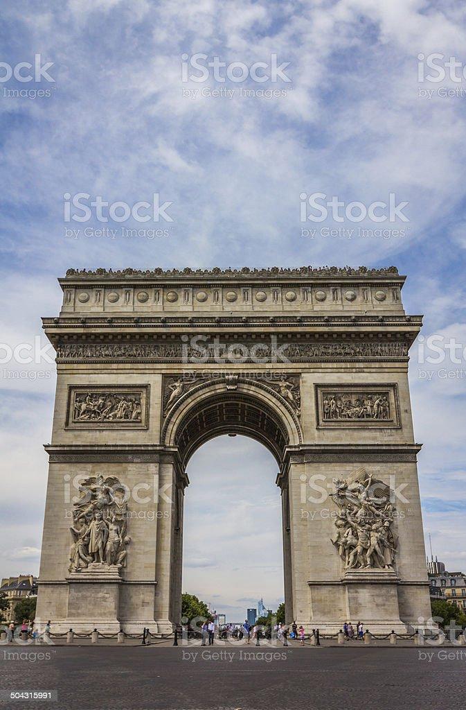 Arch de Triumph in Paris stock photo