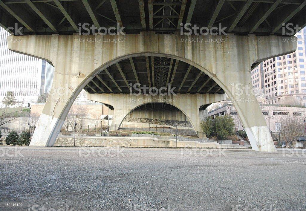 Arch Detail Under A Bridge Richmond Va Stock Photo