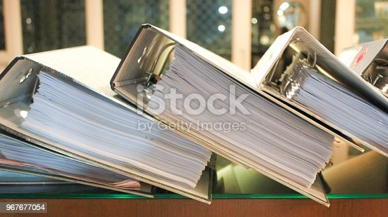 istock Arch files containing pages of documents 967677054