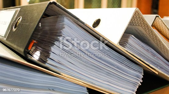 istock Arch files containing pages of documents 967677070