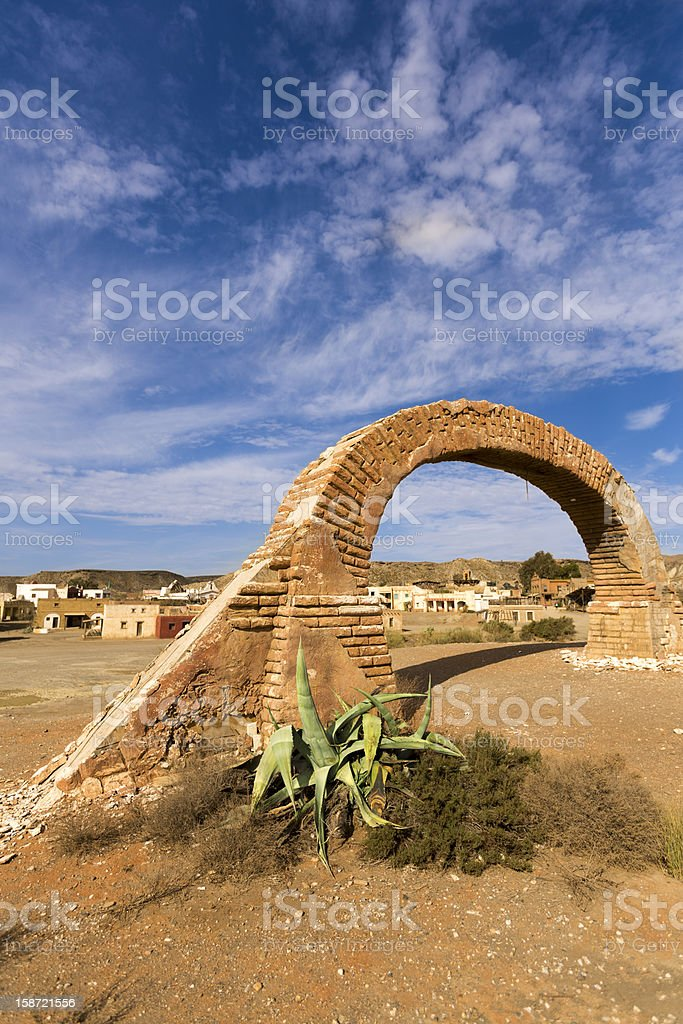 Arch Gallows In The Far West Desert royalty-free stock photo