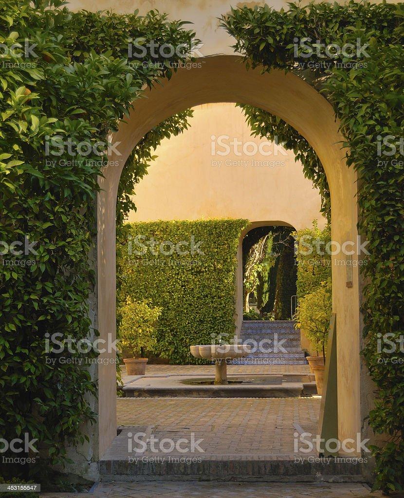 Arch garden stock photo