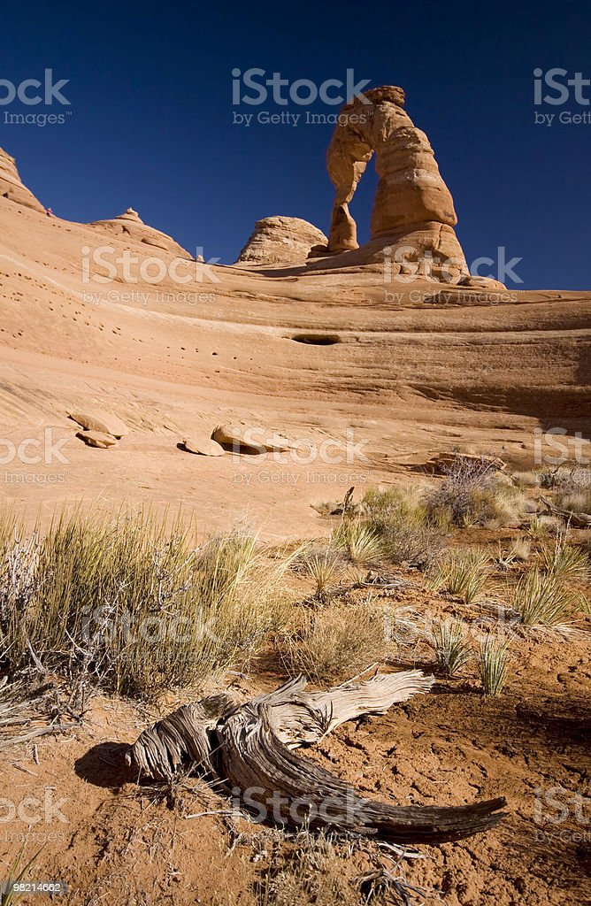 Arch in Arches Park royalty-free stock photo