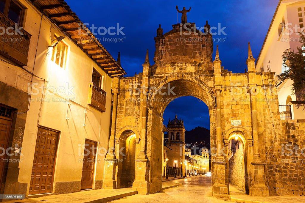 Arch in Cuzco stock photo