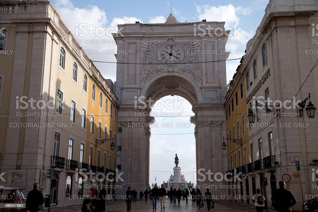 Arch of Augusta Street in Lisbon. royalty-free stock photo