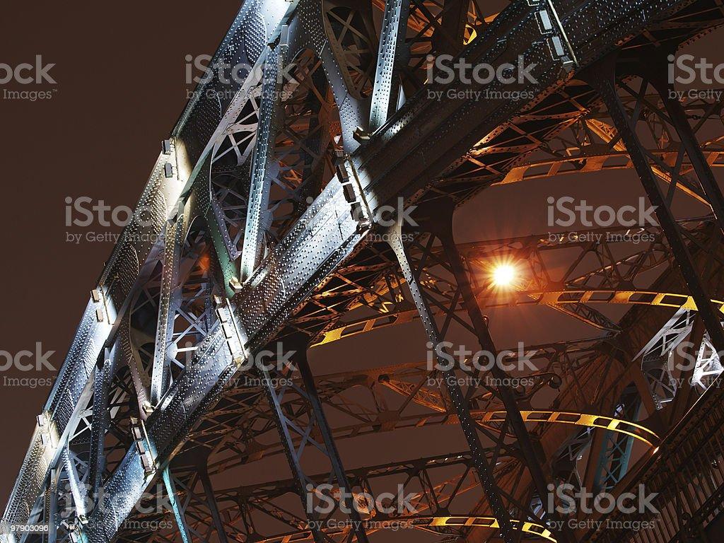 Arch of bridge in night royalty-free stock photo