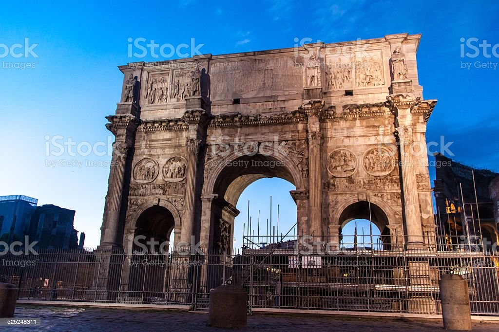Arch of Constantine, a triumphal monument in Rome stock photo