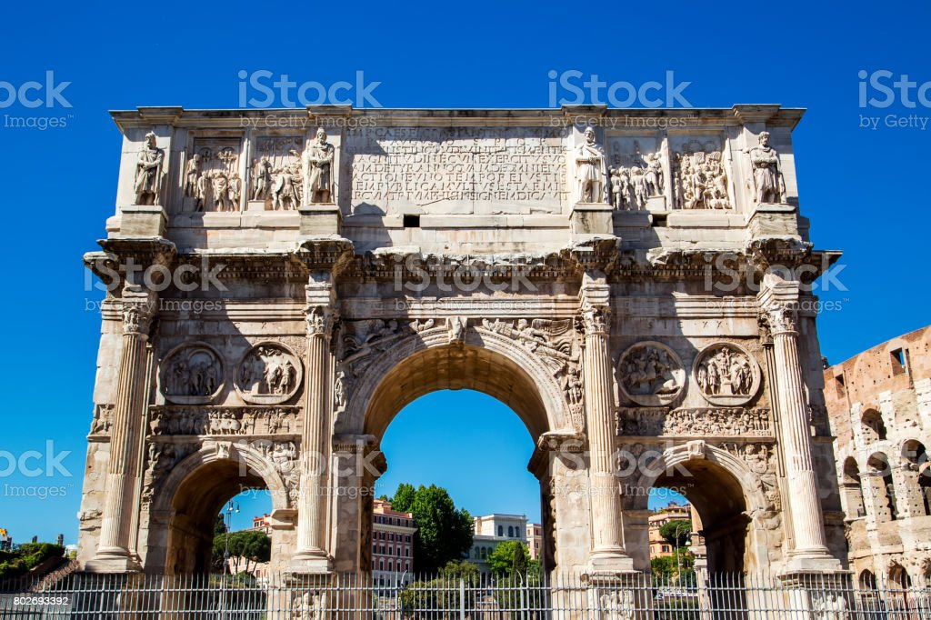 Arco de Constantino, em Roma. Itália, Europa - foto de acervo