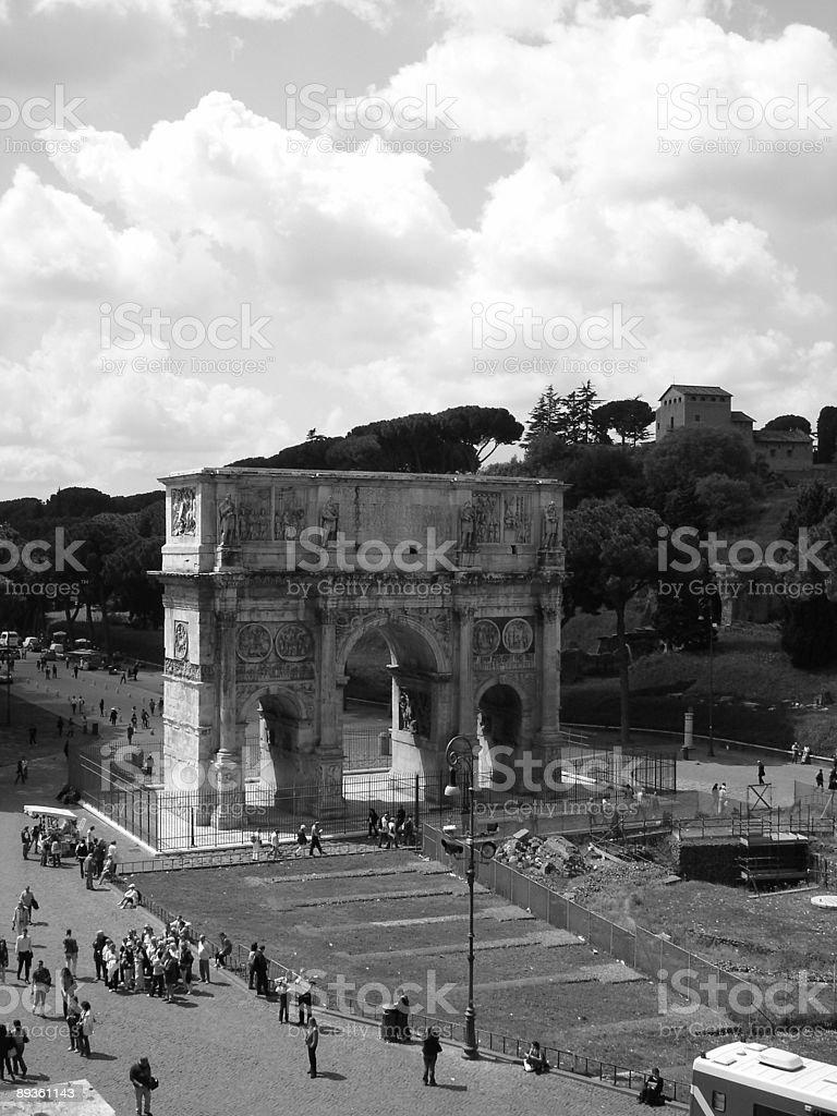 Łuk Konstantyna Wielkiego w Rzym, Włochy zbiór zdjęć royalty-free