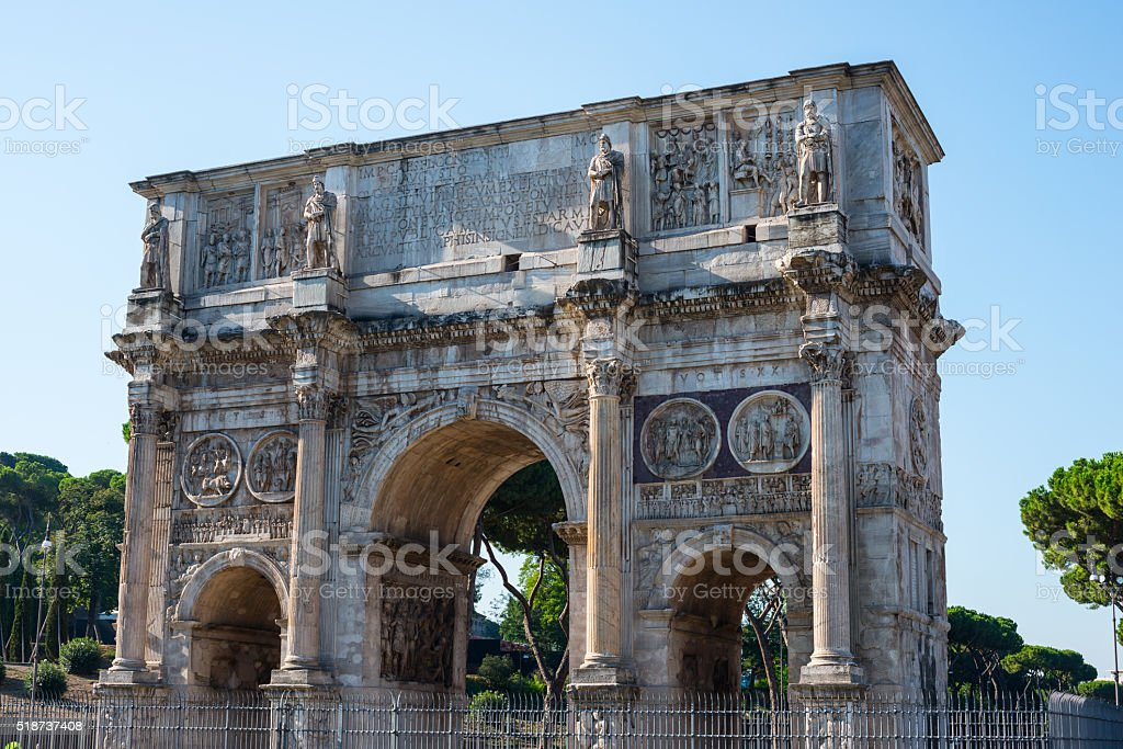 Arch of Constantine stock photo