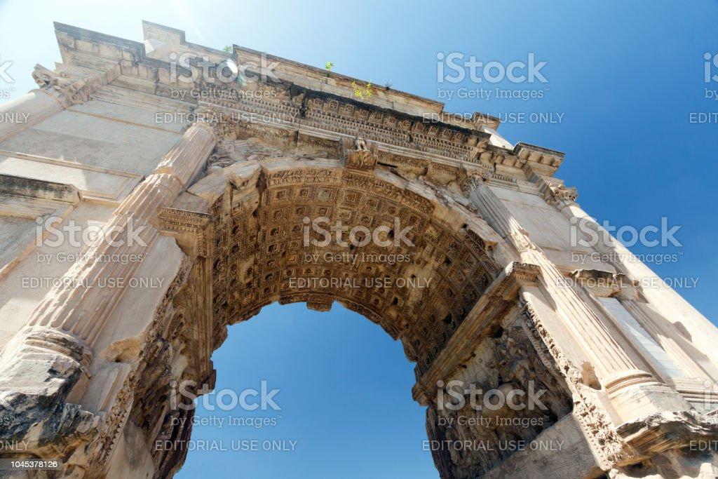 Arco de Constantino, Roma, Itália - foto de acervo