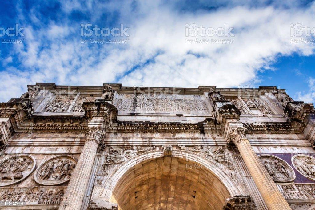 Arco de Constantino Roma, Itália - foto de acervo
