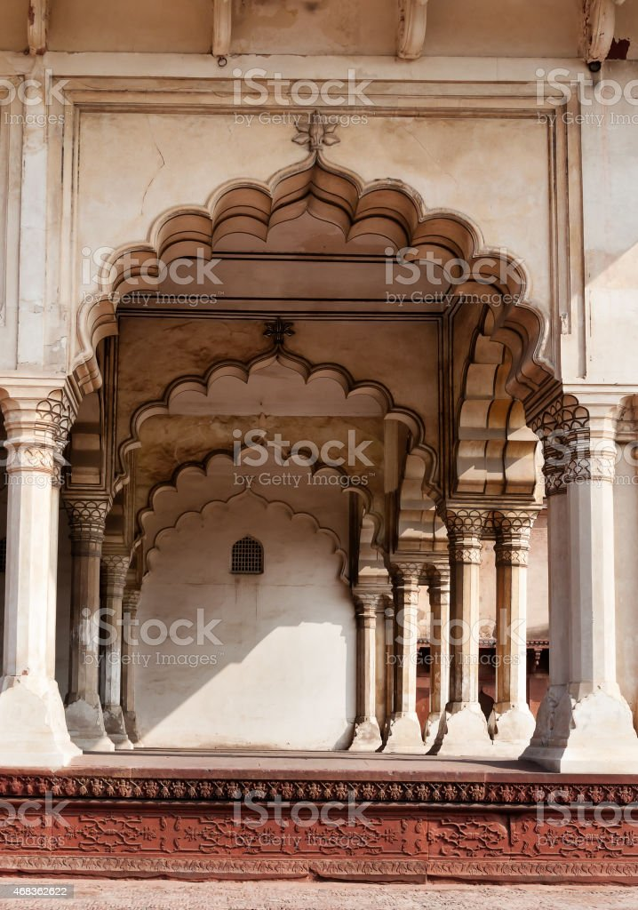 Arch of Diwan I Am in Agra Fort royalty-free stock photo