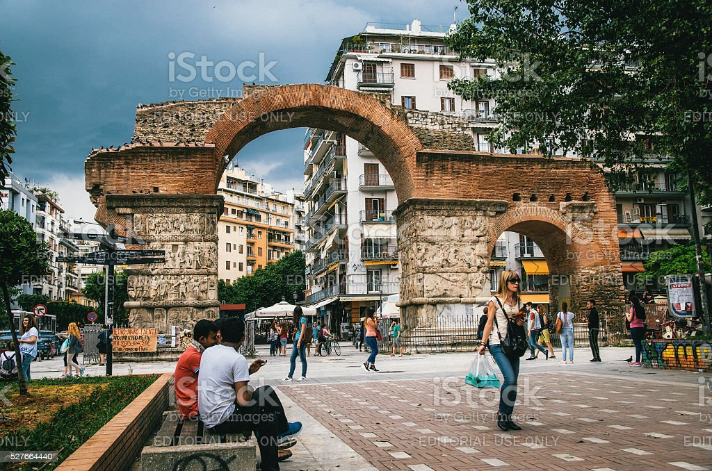 Arch of Galerius in Thessaloniki stock photo