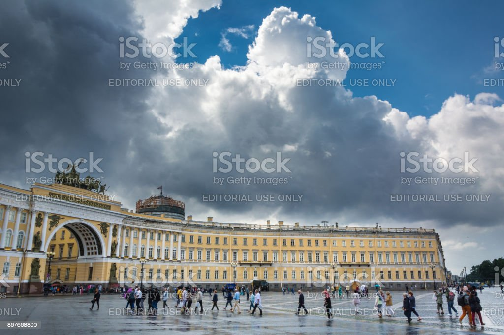 Arch of General Staff, St Petersburg, Russia stock photo