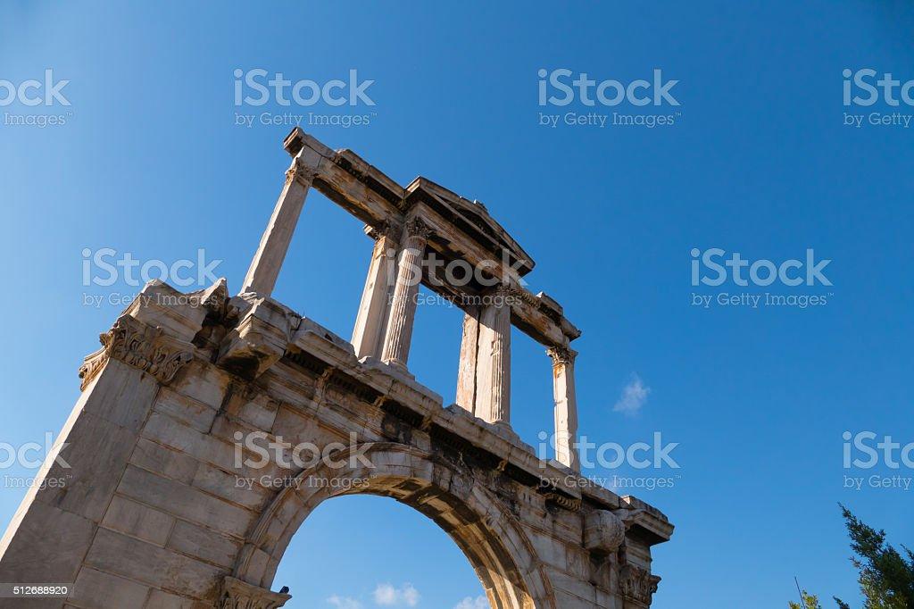 Arch of Hadrian, Athens, Greece stock photo