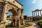 istock Arch of Imperial Forum - Rome Italy 1027603400