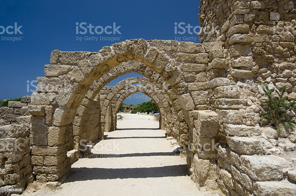Arch of ruins stock photo
