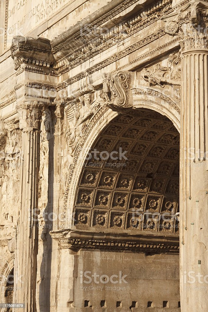 Arch of Septimus Severus at Roman Forum royalty-free stock photo