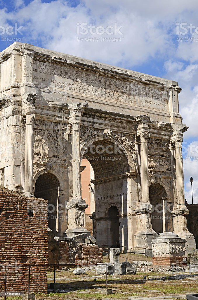 Arch of Septimus Severus royalty-free stock photo