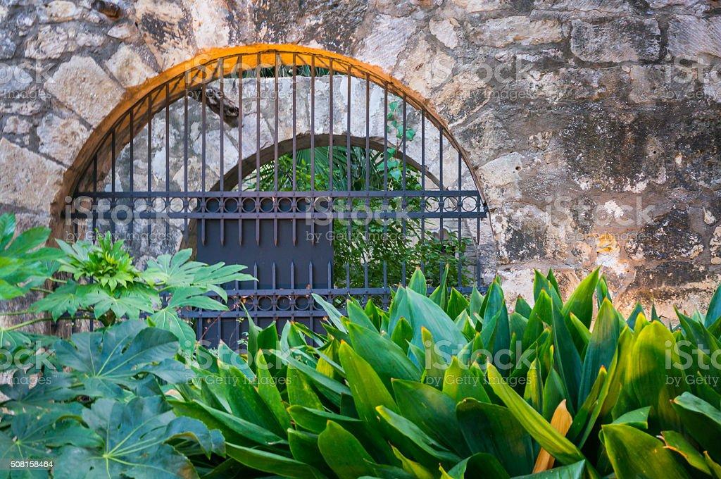 Arch of the Alamo stock photo