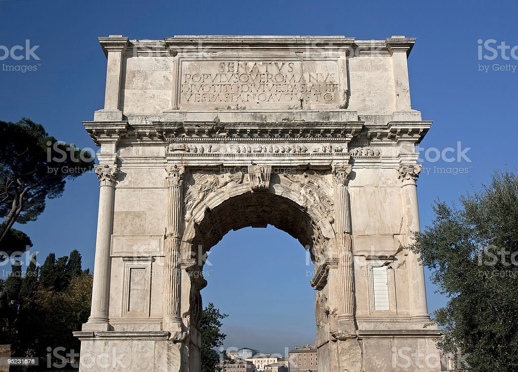 Arch of Titus, Forum Romanum, Rome stock photo