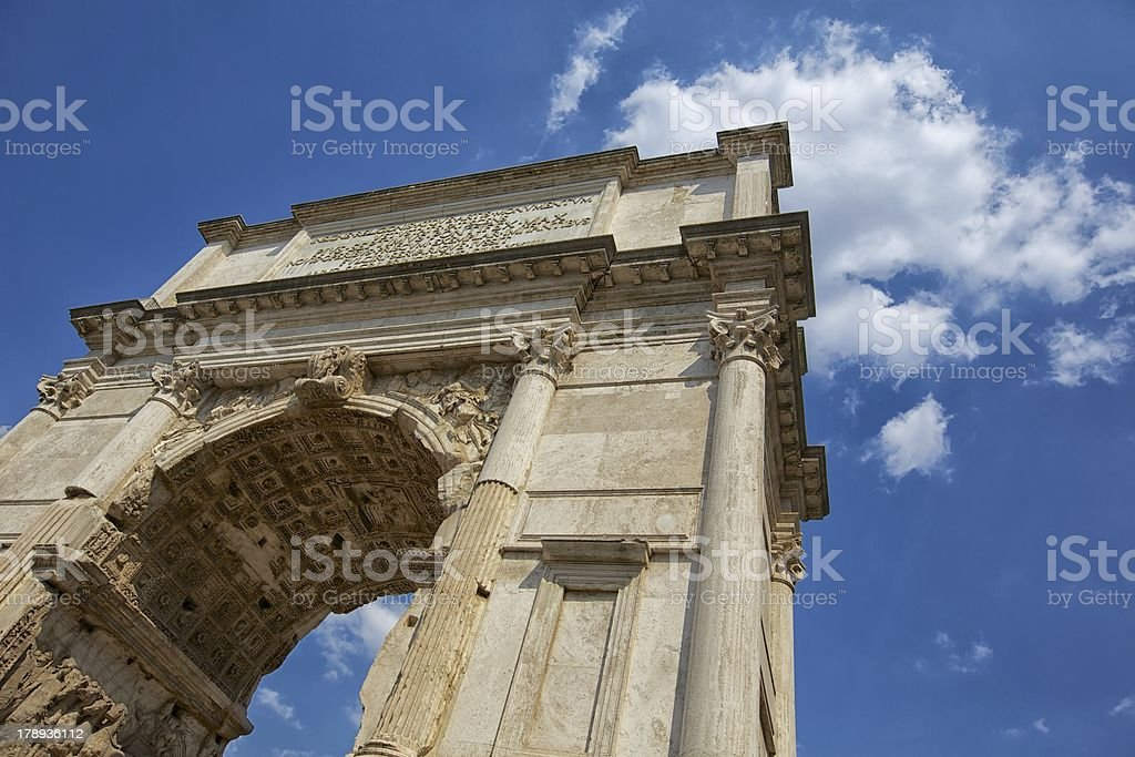 Arch of Titus, Forum, Rome, Italy royalty-free stock photo
