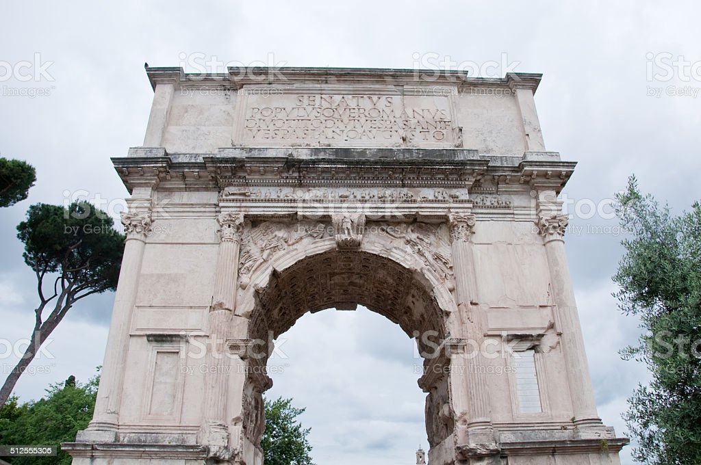 Arch of Titus on the Via Sacra, Rome, stock photo
