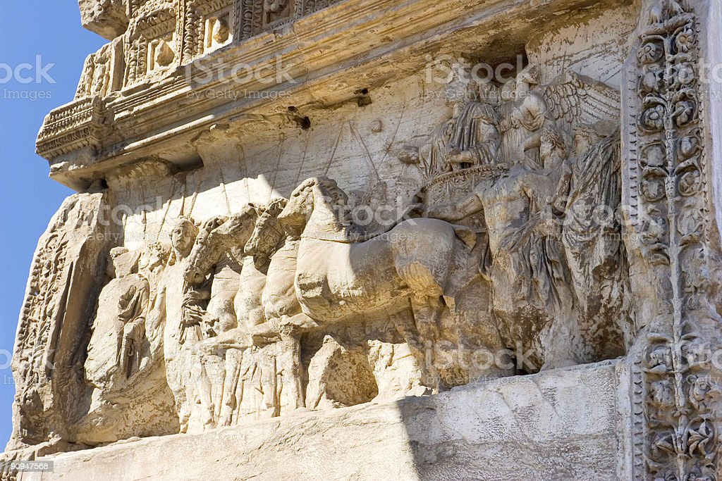 Arch of Titus stock photo