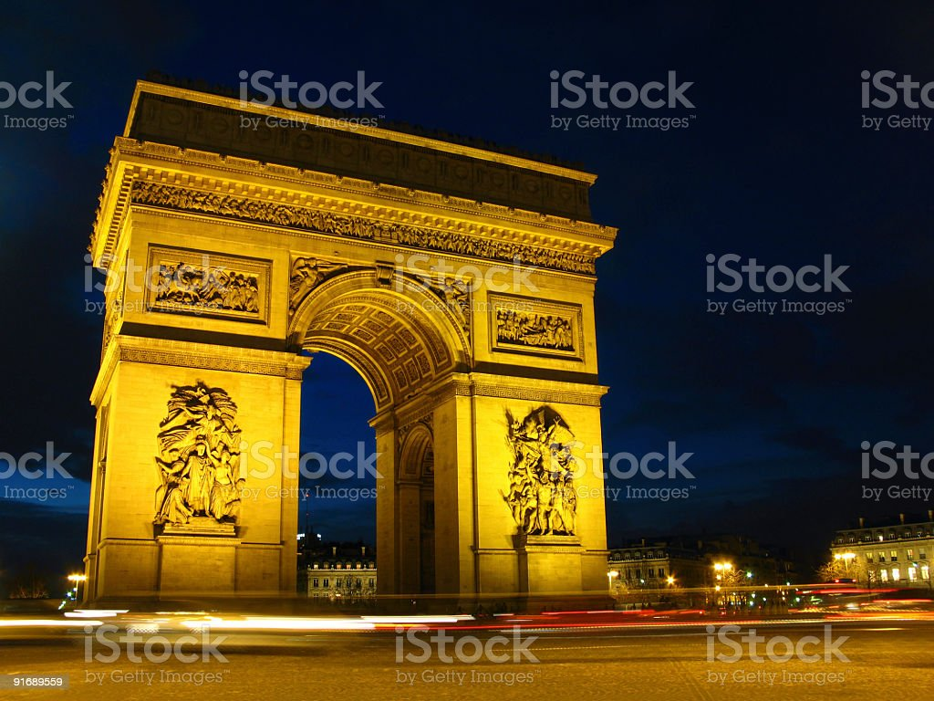 Arch of Triumph 01, Paris, France royalty-free stock photo