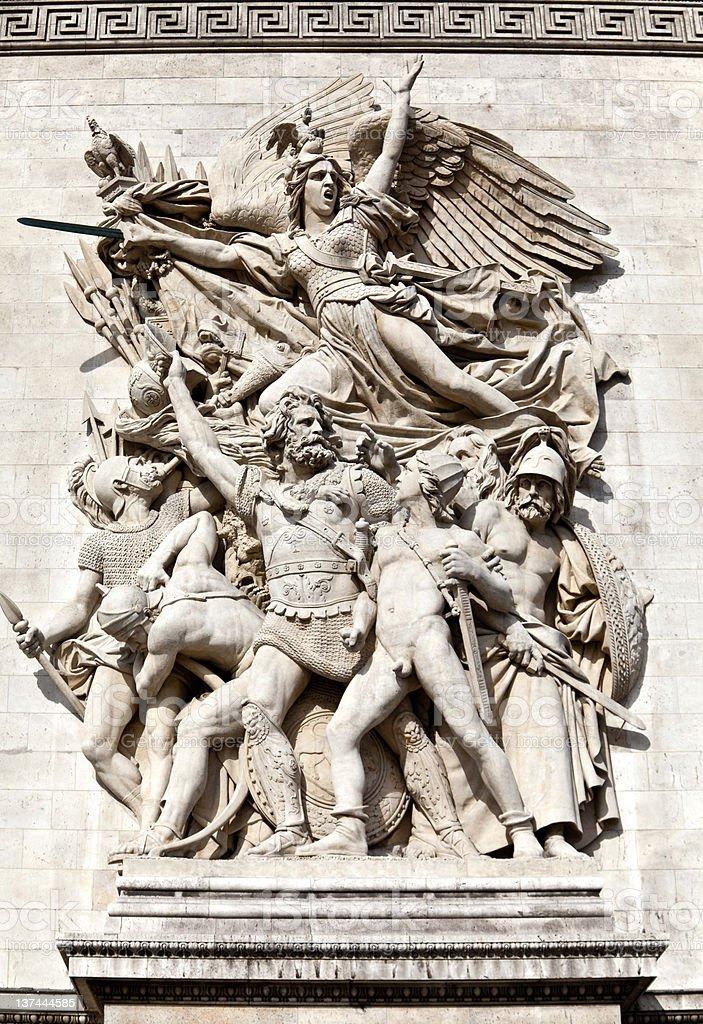 Arch of Triumph – Le Depart stock photo