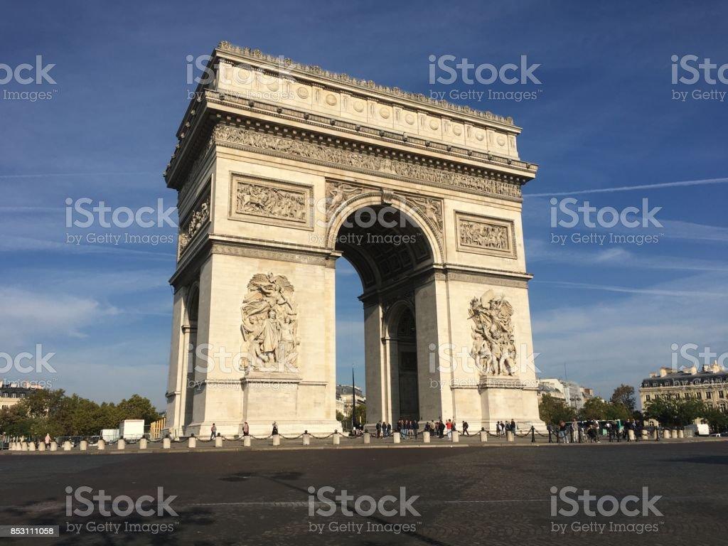 Arch of triumph Paris France stock photo