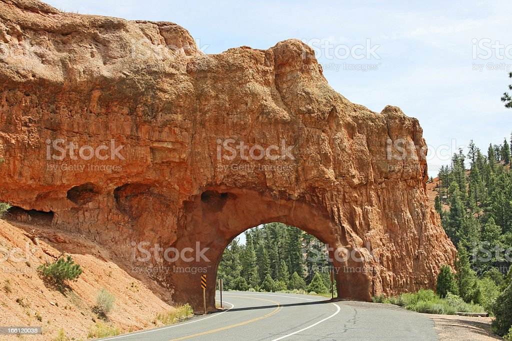 Arch over the road royalty-free stock photo