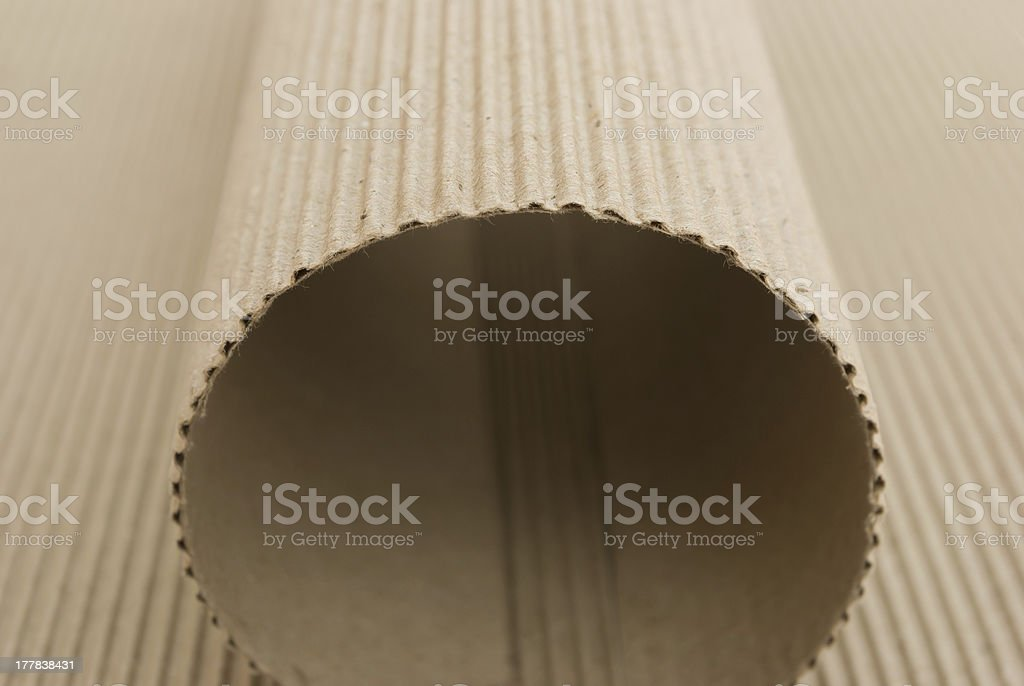 arch shaped by cardboard corrugated royalty-free stock photo