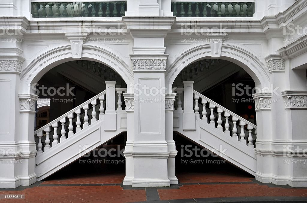 Arch, Staircase, Balustrade And Columns Royalty Free Stock Photo